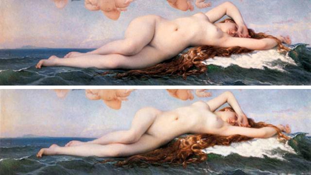 Vênus photoshopada