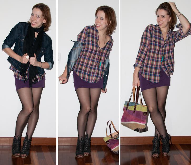 look do dia luta do dia camisa xadrez saia american apparel meia calca blog de moda luciana levy levitando