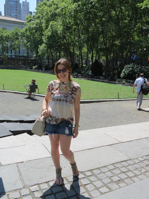 Luciana Levy em Nova York
