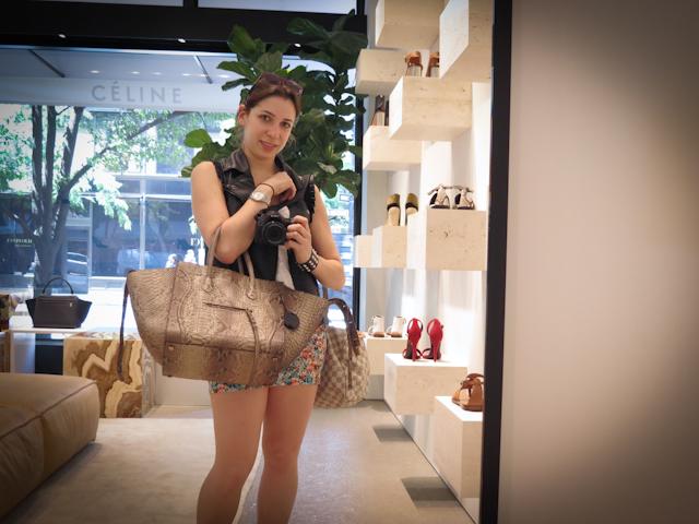 Céline Luggage Tote, loja Céline Nova York, blog de moda