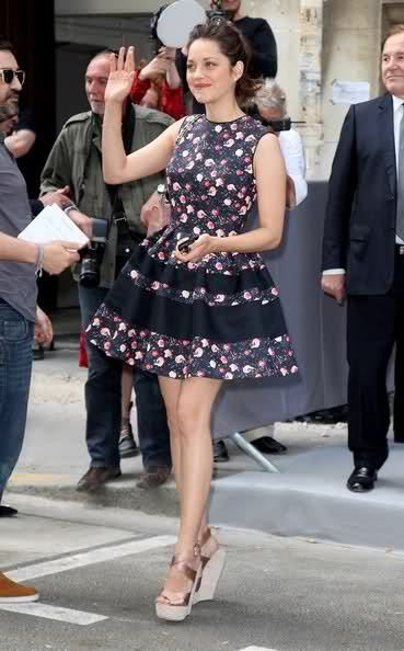 look Marion Cotillard Paris Fashion Week couture desfiles
