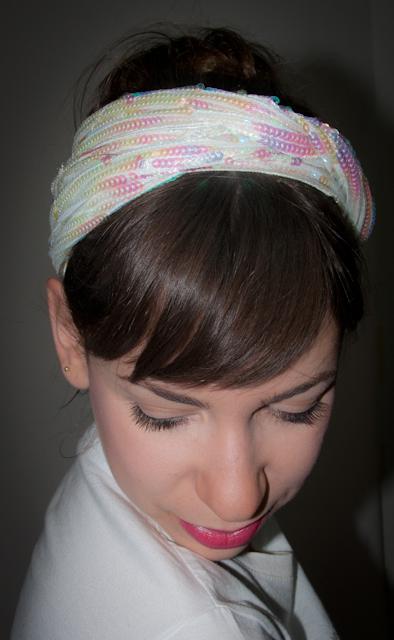 look do dia - como usar faixa no cabelo com paetês - blog de moda