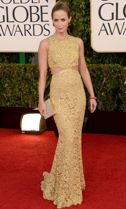 Emily Blunt - Michael Kors - Golden Globes 2013 tapete vermelho - blog de moda