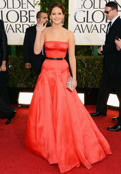 Tapete Vermelho Golden Globes 2013 - Jennifer Lawrence - Dior Couture - blog de moda