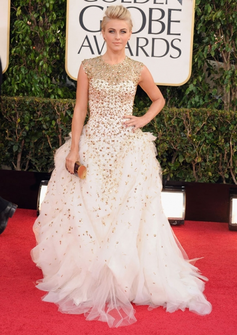 Tapete Vermelho Golden Globes 2013 - Julianne Hough - Monique Lhuiliier - blog de moda
