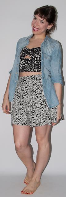 Look do dia: como usar saia de cintura alta com crop top - blog de moda