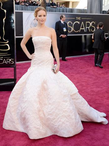 Tapete Vermelho Looks do Oscar 2013 - Jennifer Lawrence - Dior Couture