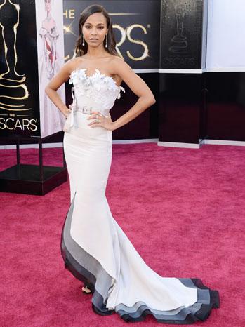 Tapete vermelho - looks Oscar 2013 - Zoe Saldana