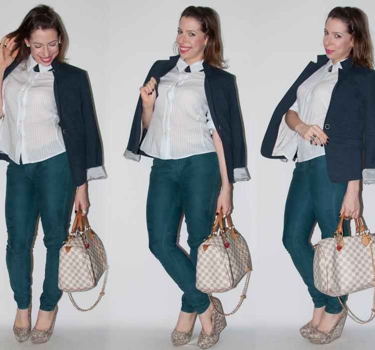 look do dia - como usar calca colorida e blazer - blog de moda