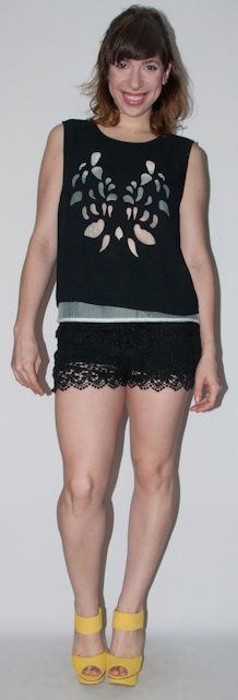 look do dia - look preto - como usar short de renda - blog de moda-2