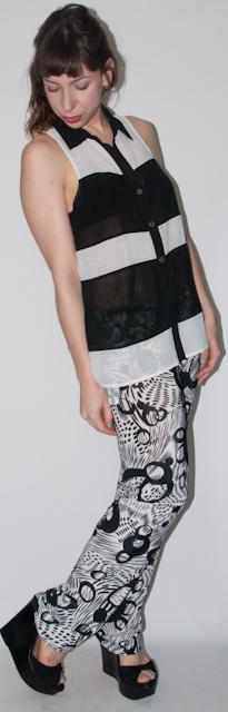 look do dia - como usar calça estampada e mix de estampas - blog de moda