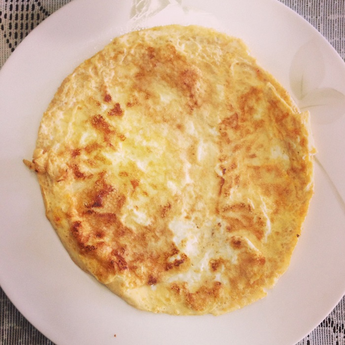 Reeducação alimentar - café da manhã - omelete