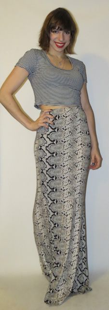look do dia - saia longa estampa de cobra - blog de moda