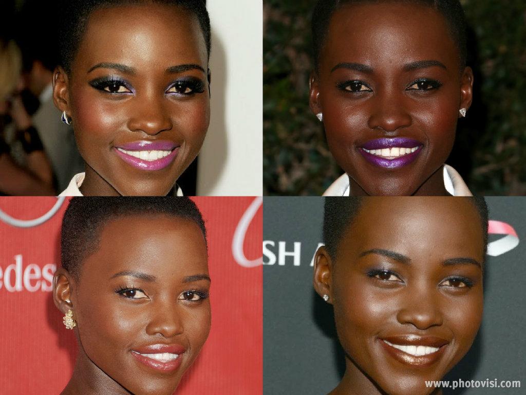 o estilo de Lupita Nyong'o - Maquiagem 1