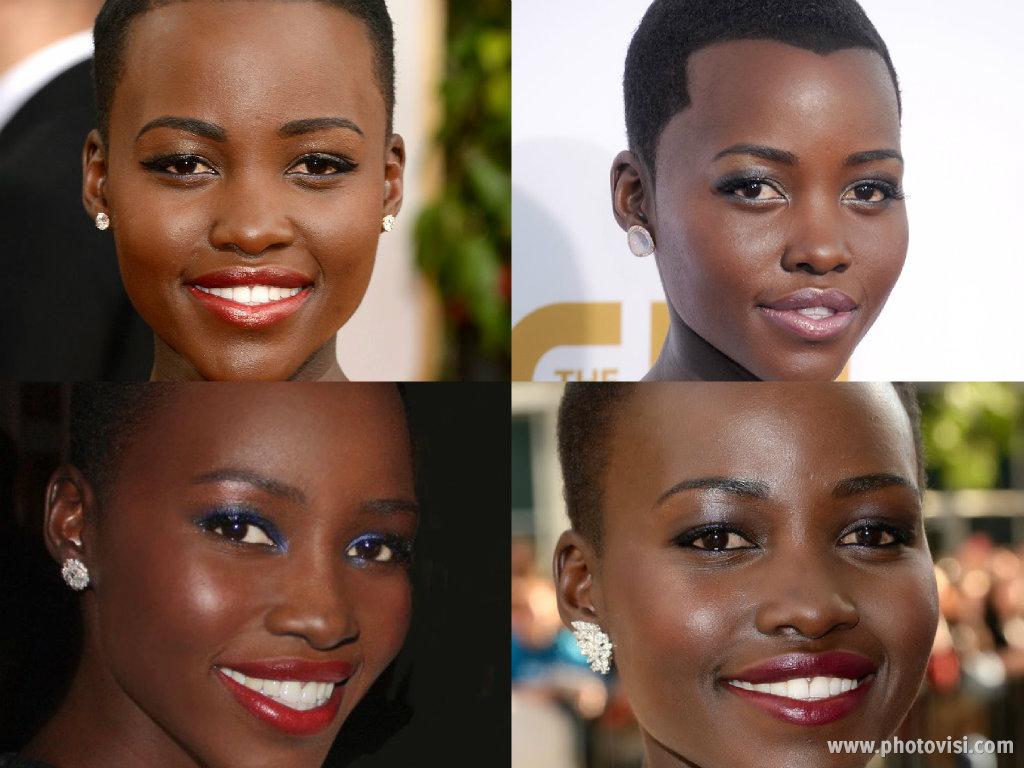 o estilo de Lupita Nyong'o - Maquiagem
