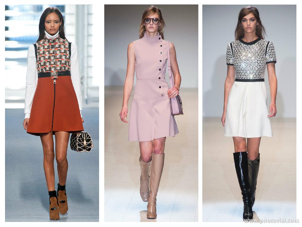 Tendências de moda para o inverno 2014 - roupas outono/inverno - anos 60