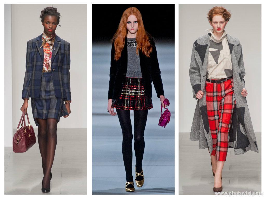 Tendências de moda para o inverno 2014 - roupas outono/inverno - xadrez