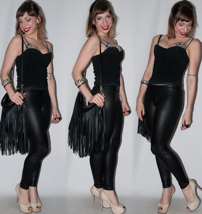 look de balada como usar calça legging lame- blog de moda - luta do dia