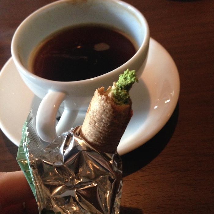 Dicas de Quioto - viagem para o Japão - wafer de chá verde