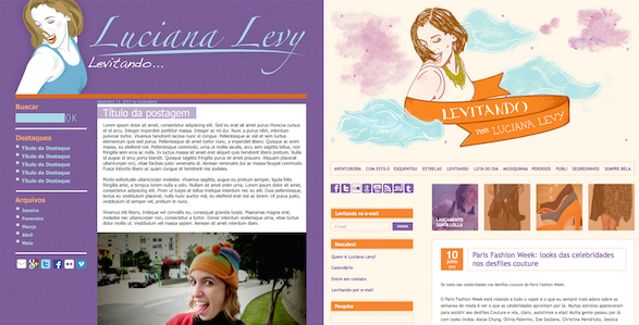 layouts blog levitando