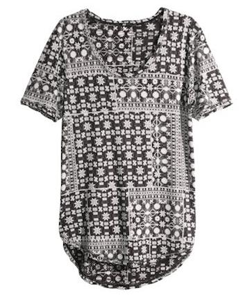 Camisetas básicas HM - lista de compras EUA