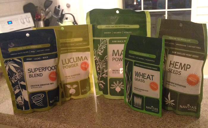 Superfoods Navitas Naturals - Lista de compras EUA