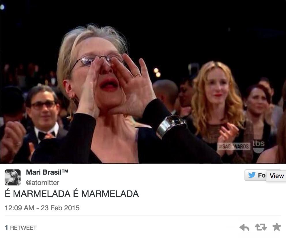 Memes do Oscar - Meryl Streep gritando