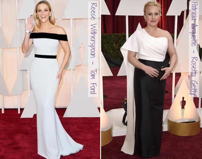 Oscar 2015 - looks do tapete vermelho - preto e branco