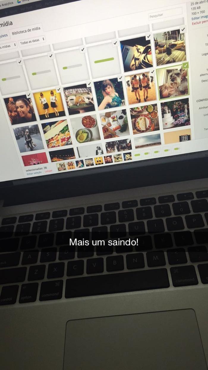Luciana Levy no Snapchat