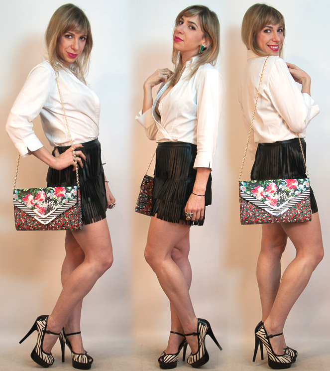How to wear leather fringe skirt