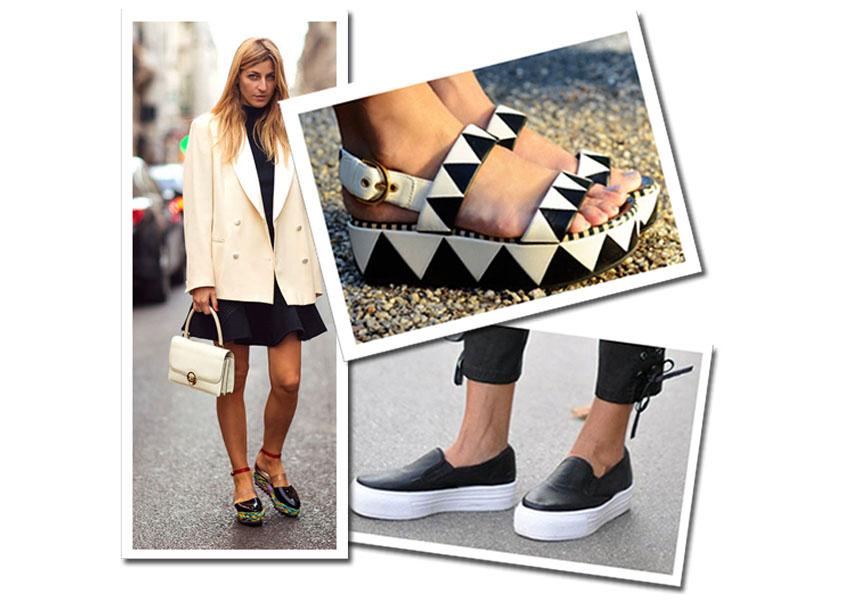 Como usar flatforms + onde comprar e como valorizar cada tipo de corpo com os sapatos tendência