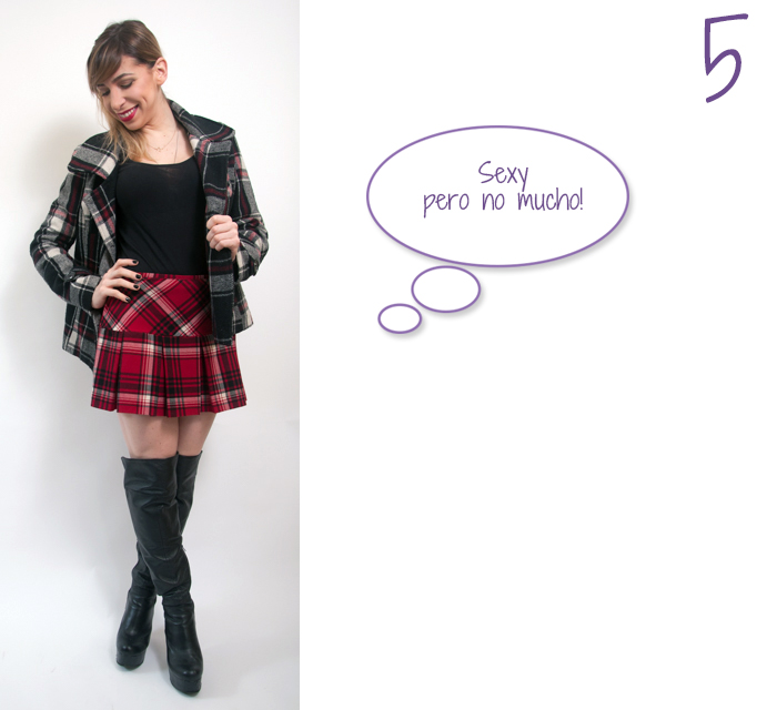 how to wear a plaid skirt 5