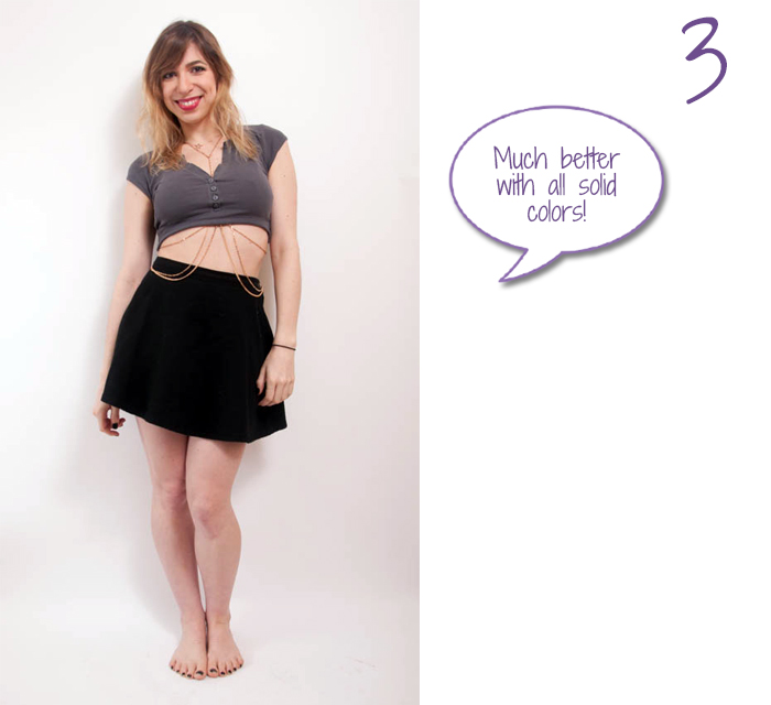 how to wear body chain with crop top 3