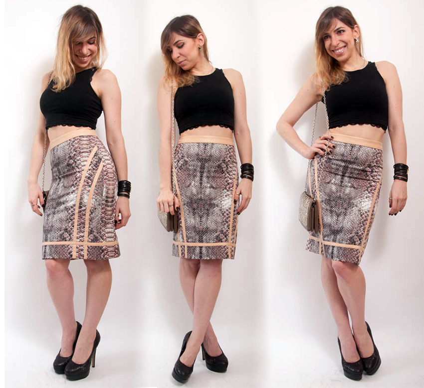 OutFIGHT of the Day: super high-waisted pencil skirt