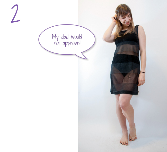 how to wear hot pants and a sheer skirt 2