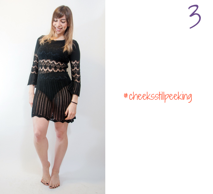 how to wear hot pants and a sheer skirt 3