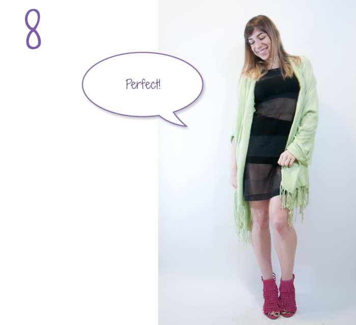 how to wear hot pants and a sheer skirt 8