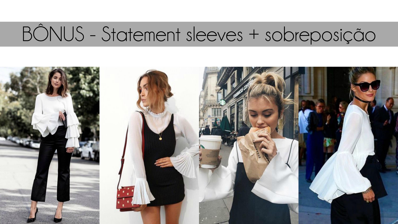 statement sleeves com sobreposição